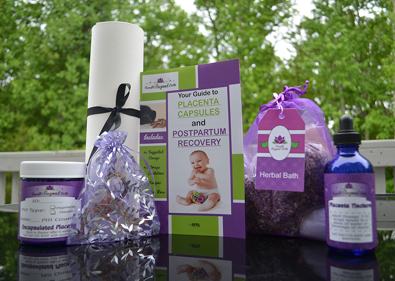 Pampered Postpartum encapsulation package